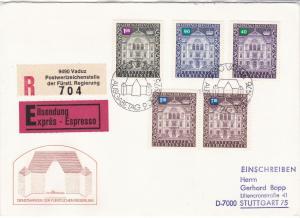 Liechtenstein 1976 House Slogan Cancels Exp Regd Multi House Stamp Cover Rf30017