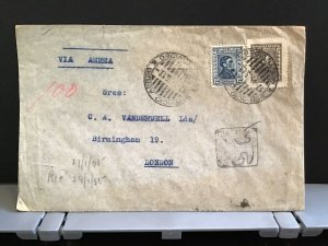 Uruguay 1935  Air Mail to England stamps cover R31434