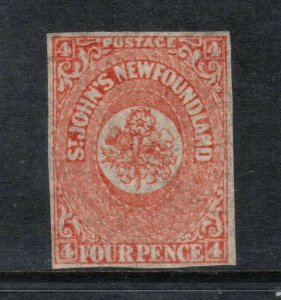 Newfoundland #12 Mint Fine - Very Fine Full Original Gum Hinged **With Cert.**