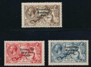 IRELAND 77-79 MINT LH NARROW 1922 5 1/2 MM