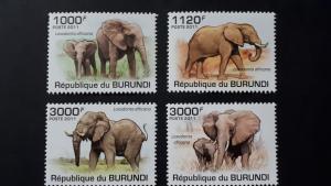 Burundi 2011. - Elephants ** MNH complete set (perforated)