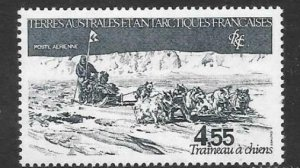 FRENCH SOUTHERN & ANTARCTIC TERRITORIES SG176 1983 DOG SLEDGE MNH
