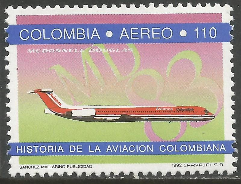 COLOMBIA C855 MNH AIRPLANE 1083A