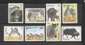 RWANDA #1199-1206  JUNGLE ANIMALS  MNH