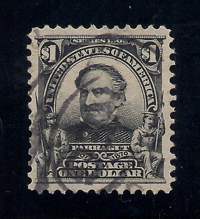 US#311 Black - $1.00 - Used - Ex.F.