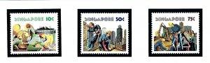 Singapore 276-78 MNH 1977 Labor Day
