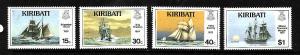 Kiribati-Sc#511-14-Unused NH set-Sailing Ships-1989-