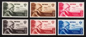 ERITREA — SCOTT CB1//CB6 — 1934 KING VICTOR EMMANUEL ISSUE — MH — SCV $48.00