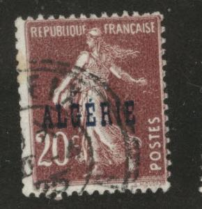 ALGERIA Scott 12 used stamp from 1924-1926