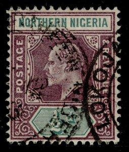 NORTHERN NIGERIA EDVII SG10, ½d dull purple & green, FINE USED.