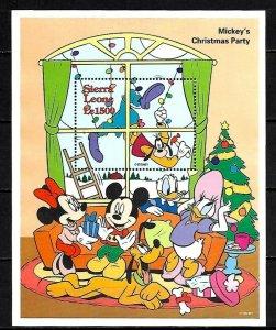 SIERRA LEONE - 1995 - DISNEY - MICKEY'S CHRISTMAS PARTY - MINNIE - MNH S/SHEET!