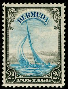 BERMUDA SG112, 2d light blue & sepia, LH MINT. Cat £50.