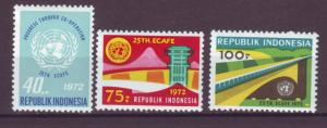 J21048 Jlstamps 1972 indonesia set mh #813-5 designs