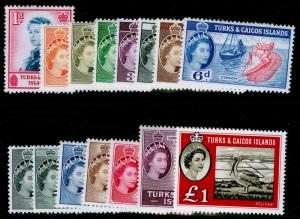 TURKS & CAICOS ISLANDS SG237-250, COMPLETE SET, NH MINT. Cat £110.