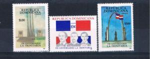 Dominican Republic 1041-43 MNH set Trinitarians (D0113)
