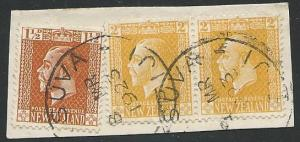 NEW ZEALAND USED IN FIJI 1923 piece GPO SUVA cds...........................50534