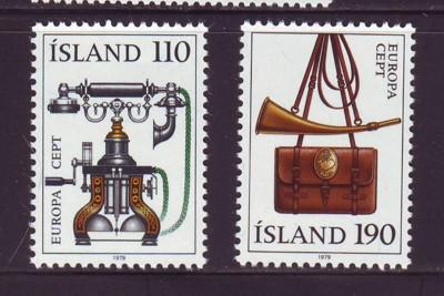 Iceland Sc 515-6 1979 Europa  stamps mint NH