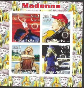 ERITREA SHEET IMPERF MADONNA SINGERS MUSIC