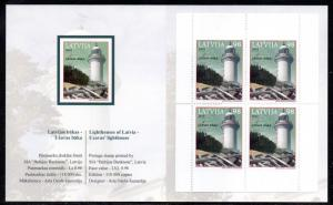 Latvia Sc 769a 2010 Lighthouse stamp booklet mint NH