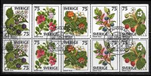 -Sweden 1219a used booklet pane 2017 SCV $6.50  -  11560