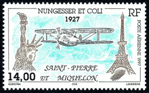 St Pierre & Miquelon C74, MNH. Disappearance of Flight of Nungesser & Coli, 1976