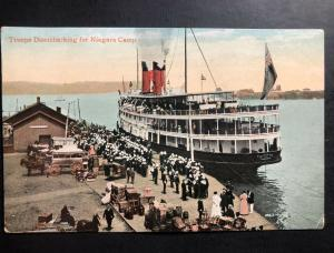 1908 Toronto Canada Picture Postcard cover Troops Disembarking for Niagara Camp
