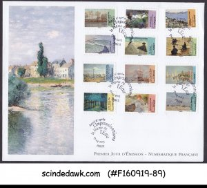 FRANCE - 2013 PAINTINGS - 12V - FDC
