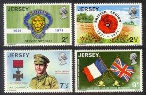 Jersey MNH 53-6 British Legion Military 1971