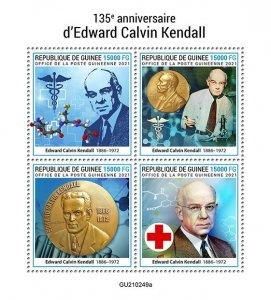 GUINEA - 2021 - Edward Calvin Kendall- Perf 4v Sheet -Mint Never Hinged