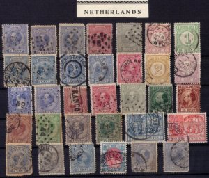 Early Netherlands 1867/1898 - Sound batch  With Duplicates - F-VF