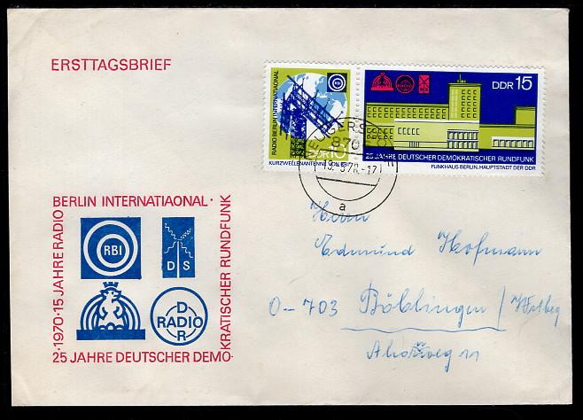 Germany DDR 1205a Pen FDC