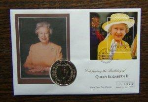 Alderney 2001 Queen Elizabeth 2 75th Birthday Coin Cover