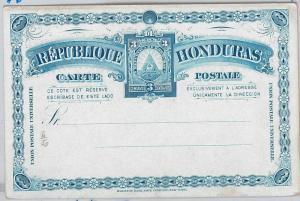 40346   HONDURAS - - POSTAL STATIONERY CARD: Higgings & Gage # 6