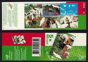 Netherlands Whinchat Bird Fox Bird Watching Booklet 2001 MNH SG#2080-2084