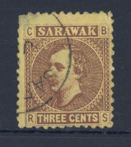 Sarawak 1871 Sc#2 Sir Charles Brooke Used