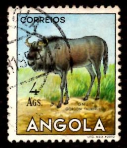 Angola 1953 African Brindled gnu Wild Animals 4a Scott.375 Used (#4)