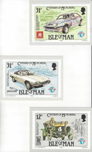 Isle of Man 284-6 Post/Maximum Cards.  century of Motoring 6 Dif Cards