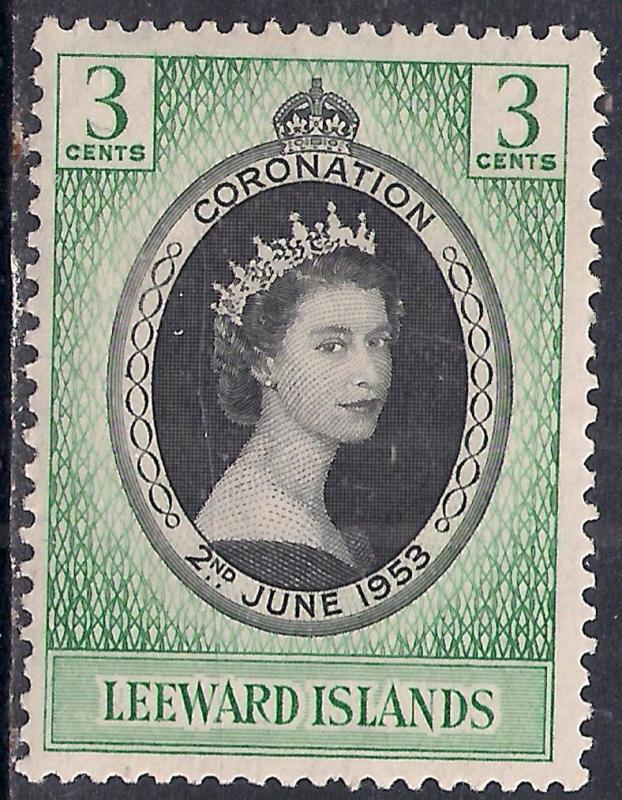 Leeward Islands 1953 QE2 3ct Coronation MM SG 125 ( R1149 )