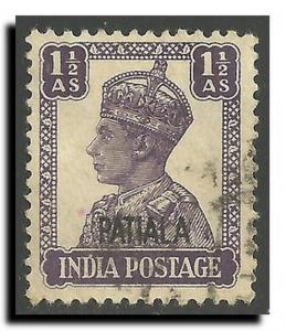 India-Convention States-Patiala Scott 107