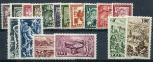 Saar #204-20 Mint   VF NH - Lakeshore Philatelics