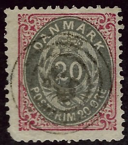 Denmark SC#31 Used Fine nibbed corner Cat $32.50...steal the deal!!