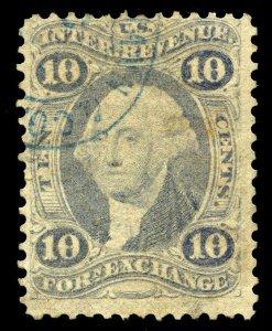 B359 U.S. Revenue Scott R35e 10c Foreign Exchange ultramarine CV = $20