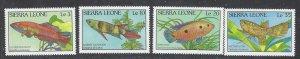 Sierra Leone 959-62 MNH 1988 Fish (ap7274)