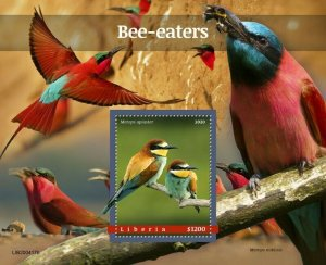 YEAR 2020/10- LIBERIA- BIRDS         1V complet set    MNH ** T