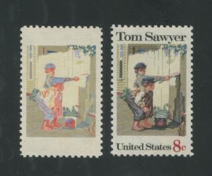 1972 United States Postage Stamp #1470b Mint Engraving Missing Error Certified