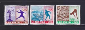 Liberia 483-485 Set MNH Sports, Olympics