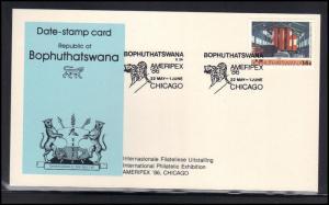 Card Event Cancel Bophuthatswana AMERIPEX '86 BoxCV0375