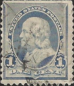 # 219 DULL BLUE USED BEN FRANKLIN
