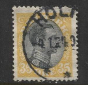 Denmark - Scott 115 - King Christian X Issue -1919 - Used - Single 35o Stamp