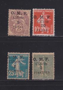 Cilicia 101, 103-105 MHR Overprint